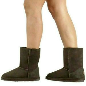 EMU Australia Stinger Lo sheepskin brown boots
